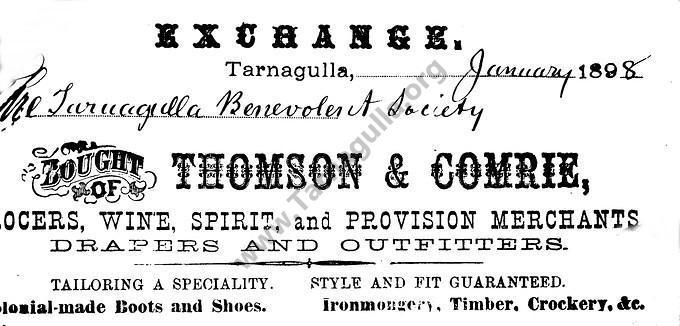 Thomson and Comrie, 1898