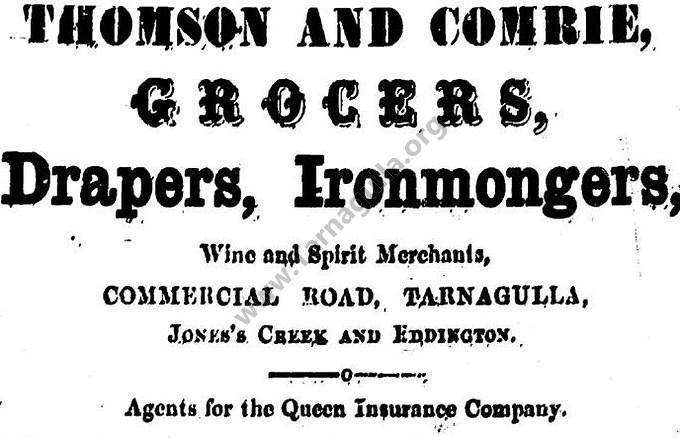 Thomson & Comrie Advertisement 2 February 1867