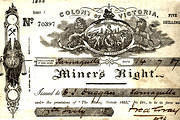 Miner's Right issued to D. J. Duggan 14 July 1887