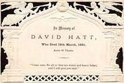 Remembrance Card for David Hatt 1881