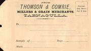 Thomson & Comrie grain sample envelope c 1900