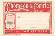 Thomson & Comrie consignment label c 1900