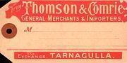 Thomson & Comrie consignment tag c 1900