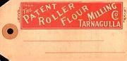 The Tarnagulla Patent Roller Flour Milling Co. consignment tag c 1900
